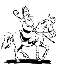 Kleuren Nu Sinterklaas Op Zijn Paard Kleurplaten