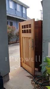Craftsman Wood Garden Gate 4