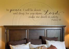 In Peace I Will Lie Down Vinyl Wall Statement Psalm 4 8 Vinyl Scr417