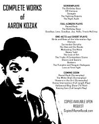 Complete Works of Aaron Kozak - AaronKozak.com