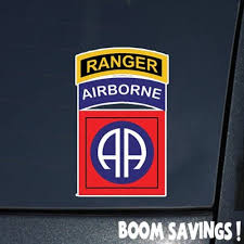 Amazon Com Us Army 82nd Airborne Division W Ranger Tab Ssi 6 Decal Sticker Automotive