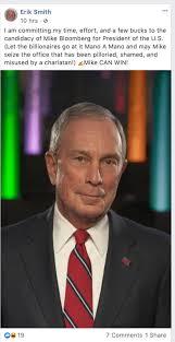 Former Channel 7 anchor Erik Smith endorses Mike Bloomberg for president