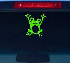 Frog Decal Frog Car Decal Frog Car Sticker Frog Sticker Etsy