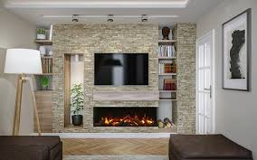 sided electric fireplaces for 2020