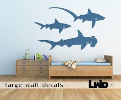 Sharks Wall Decal Children Room Sticker Nursery Wall Decor Art Wall Kids Kid Room Decor Wall Decals