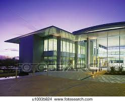 modern glass office building picture