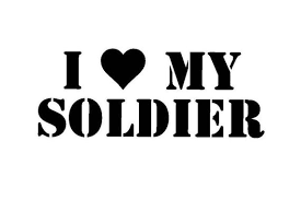 I Love My Soldier I Heart My Soldier Vinyl Decal Sticker Etsy