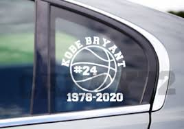 Kobe Bryant Jersey Number 24 Car Decal Sticker Free Shipping Ebay