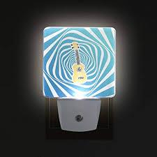 Music Ukulele Led Night Lights With Auto Dusk To Dawn Sensor Plug In Warm White Lamp For Kids Room Nursery Hcmusic Non Toxic Pack Of 2 Amazon Com
