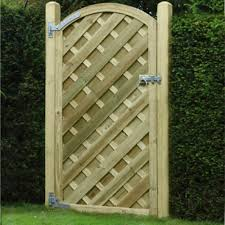 V Arch Fence Gate 1 8m H X 900mm W Green Wooden Supplies