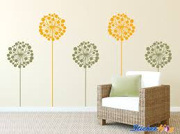 Dandelions Decorative Flowers 1 Floral Wall Decals Graphic Vinyl Sticker Bedroom Living Room Wall Home Decor