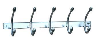 Symple Stuff Aluminium 5 Hook Wall Mounted Coat Rack Wayfair Co Uk