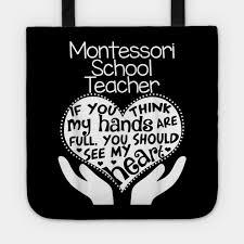 montessori teacher t shirt heart hands