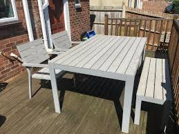 ikea falster grey garden furniture in