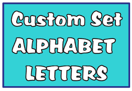 Custom Set Alphabet Letter Vinyl Decals Let23008 3 97 Decal Rocket Online Store Custom Decal Stickers To Fit Any Personality