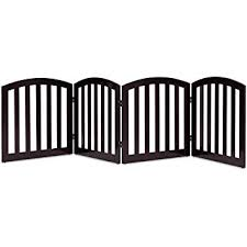 24 Configurable Folding Free Standing 4 Panel Wood Pets Fence Gate 360 Rotate