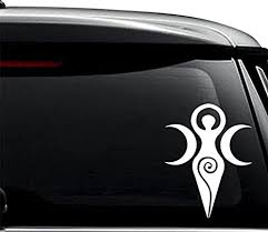 Amazon Com Goddess Wiccan Symbol Decal Sticker For Use On Laptop Helmet Car Truck Motorcycle Windows Bumper Wall And Decor Size 6 Inch 15 Cm Tall Color Gloss White Arts Crafts Sewing