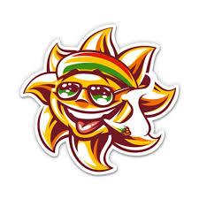 Rasta Weed Smoking Sun Jamaica Joint 3 Vinyl Sticker For Car Laptop I Pad Phone Helmet Hard Hat Waterproof Decal Walmart Com Walmart Com