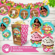 Kit Imprimible Moana Candybar Cumpleanos Invitaciones 430 00