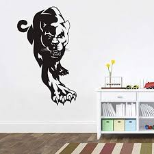 Amazon Com African Wall Decal African Wild Pride Animals Panther Jaguar Designs Art Office Home Decoration 47t Home Kitchen