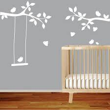 Tree Branches Wall Decal With Birds Nursery Wall Decal Decor Art Stick