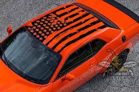 Usa Flag Graphics For Dodge Challenger Roof Decals Challenger Vinyl