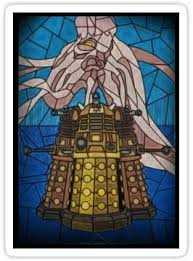 Amazon Com Dalek Stained Glass Sticker Graphic Bumper Window Sicker Decal Doctor Who Dr Who Sticker Automotive