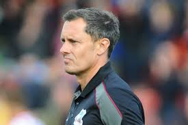 Paul Hurst reacts after Scunthorpe United's 1-0 League Two defeat ...