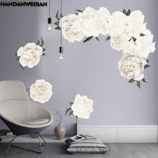 3d Peony Rose Flowers Wall Stickers White Vintage Wallpaper For Bedroom Living Room Decals Mural Home Decor Kid Girls Gift Owl Wall Stickers Peelable Wall Decals From Rudelf 23 54 Dhgate Com