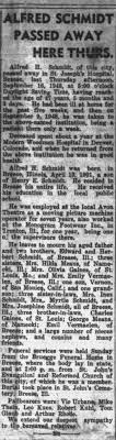 Obituary for Alfred H. SCHMIDT, 1901-1948 - Newspapers.com