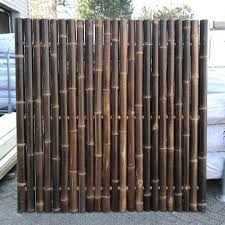 B Grade Giant Black Bamboo Fence Panel 180 X 180 Cm Bamboo Fence Rustic Fence Bamboo Garden Fences