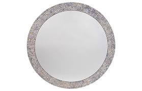 sophie mother of pearl wall mirror