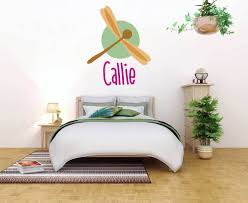 Personalized Name Dragon Fly Wall Decal Sticker Nursery For Home Decor Krafmatics