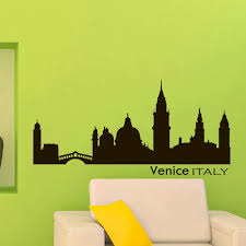 Vinyl Wall Decals Venice Italy Skyline City Silhouette Sticker Home Decor Art Mural Z595 Amazon Com