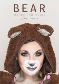 cute bear makeup tutorial for