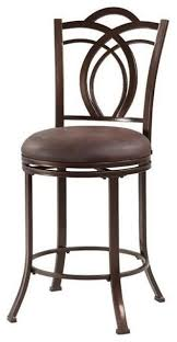 faux leather metal swivel counter stool