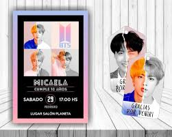 Kit Imprimible Bts Personalizado Cumple Candy Bar Kpop 340 00