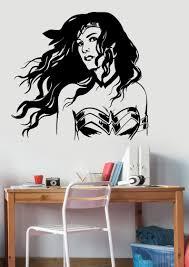 Wonder Woman Wall Decal Vinyl Sticker Marvel Comics Girl Etsy