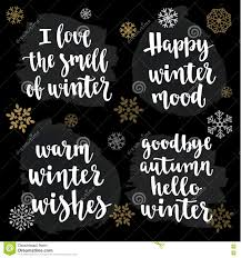 winter quotes modern calligraphy style handwritten lettering