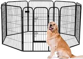 Amazon Com Avawing 40 Inch Dog Playpen With Door Heavy Duty Foldable Metal Pet Dog Puppy Cat Exercise Fence Barrier Playpen Kennel 8 Panel Pet Playpen For Large And Small Dogs Indoor