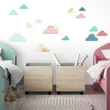 Wild And Free Cloud Peel And Stick Wall Decals With Mirrors Roommates Decor