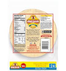 extra thin yellow corn tortillas