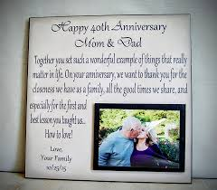40th wedding anniversary gift ideas for