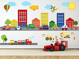 construction wall decal truck wall