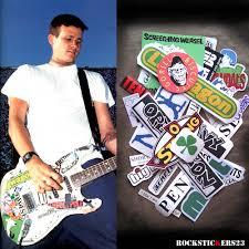 Tom Delonge Stickers Guitar Decal Replica Blink 182 Set 28 Rockstickers On Artfire