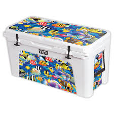 Mightyskins Protective Vinyl Skin Decal For Yeti Tundra 110 Qt Cooler Lid Wrap Cover Sticker Skins Abstract Black Walmart Com Walmart Com