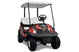 Club Car Precedent I2 Graphics Mad Hatter Red Black Golf Cart Graphic Decal Kit Golf Cart Graphic Kits Graphic Kits