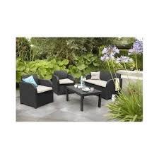 rattan effect 4 seater garden patio
