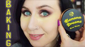 makeup with banana dreams powder w7
