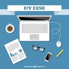office kit flat design free vector